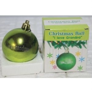 Other - 2 Green Metallic Plastic Unbreakable Ornament I <3